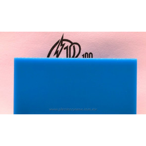 Lámina de acrílico azul 01 traslúcido