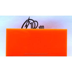 Lámina de acrílico naranja 01 traslúcido
