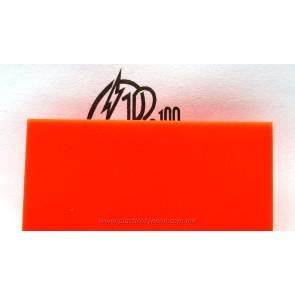 Lámina de acrílico naranja 02 tráslucido