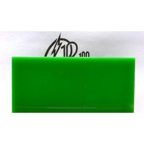 Lámina de acrílico verde traslúcido