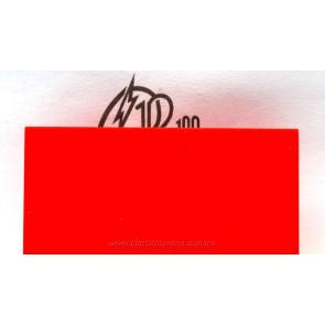 Lámina de acrílico rojo